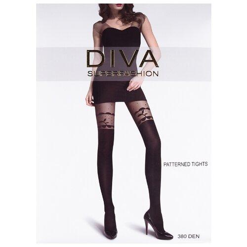 Колготки DIVA SUPERFASHION DK-75 380 den, размер free size, черный колготки diva superfashion secret 128 380 den размер free size черный черный
