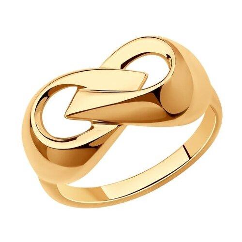 Diamant Кольцо из золочёного серебра 93-110-00601-1, размер 19