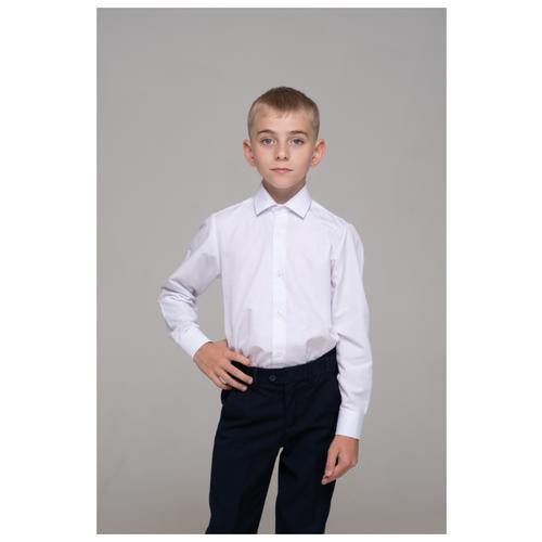 Рубашка Бренда-Люкс размер 34, белый рубашка бренда люкс размер 31 синий