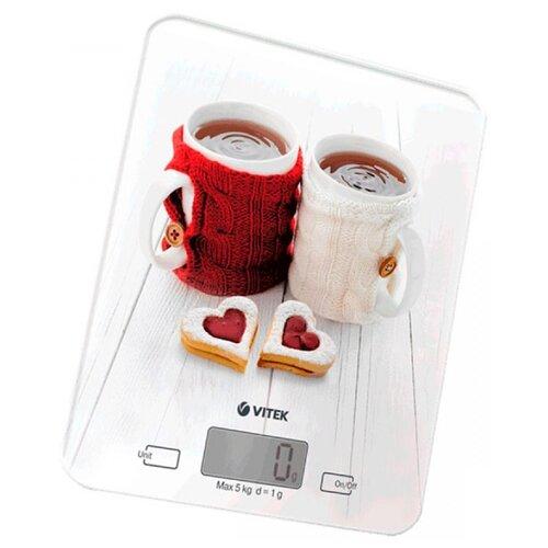 Кухонные весы VITEK VT-2424 белый весы кухонные vitek vt 8021 st серебристый