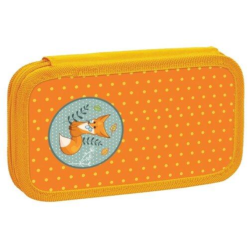 Купить Юнландия Пенал Лисенок (228259) оранжевый, Пеналы