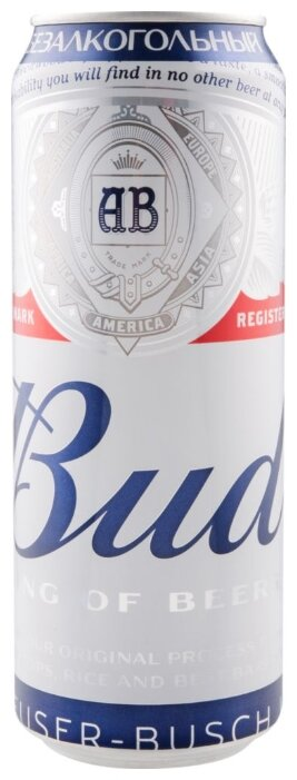 Пивной напиток безалкогольный Bud 450 мл