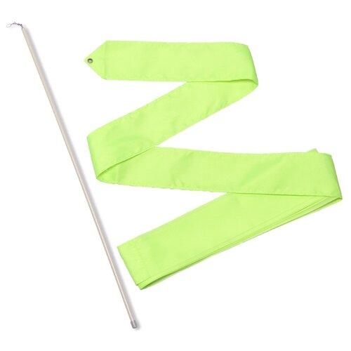 Палочка с лентой для художественной гимнастики Indigo СЕ6 лимонный