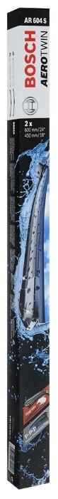 Щетка стеклоочистителя бескаркасная BOSCH Aerotwin AR604S 650 мм / 450 мм, 2 шт.