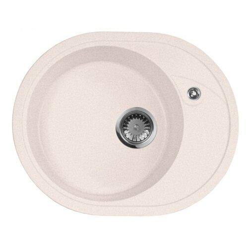цена на Врезная кухонная мойка 57 см А-Гранит M-18L M-18L(311) светло-розовый