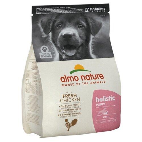 Сухой корм для щенков Almo Nature Holistic, курица 2 кг (для мелких пород) сухой корм для щенков almo nature holistic курица 12 кг для мелких пород
