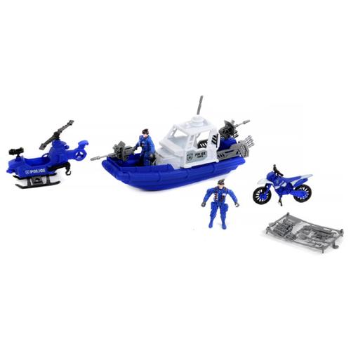 Купить Набор техники Shantou Gepai Rescue Team Полиция 1713701 синий, Машинки и техника