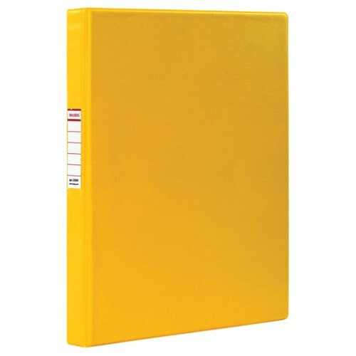 BRAUBERG Папка на 2-х кольцах A4, картон/ПВХ, 35 мм желтый папка brauberg a4 390x315x120mm black 223082