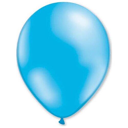 Набор воздушных шаров MILAND Металлик 21 см (100 шт.) голубой