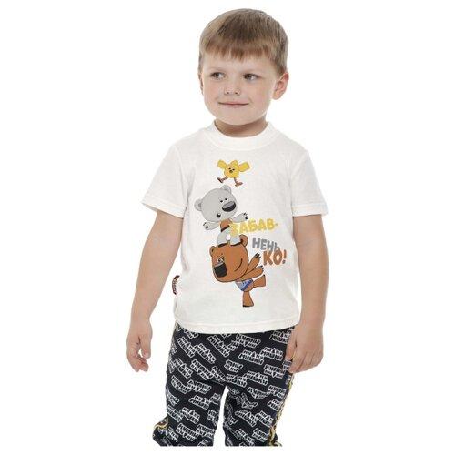 Купить Футболка lucky child размер 26 (80-86), молочный, Футболки и рубашки