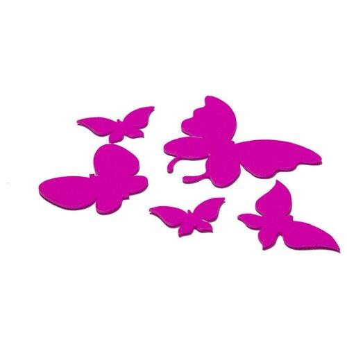 Комплект наклеек на выключатель DS Studio Лавандовые бабочки, объемные