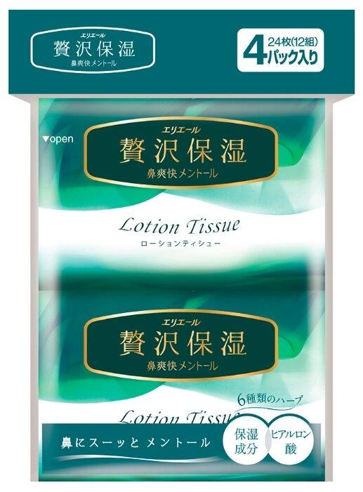 Платочки Elleair Lotion Tissue Menthol