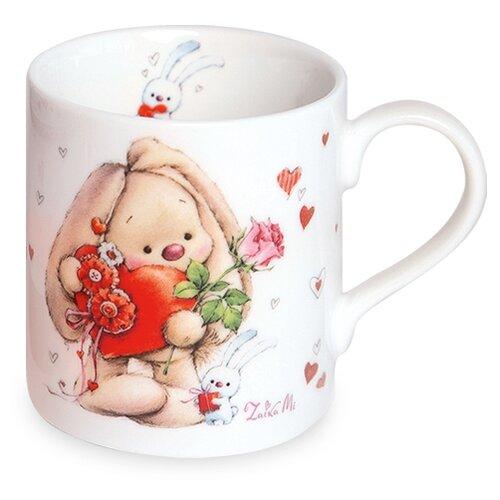 BUDI BASA souvenirs Кружка Зайка Ми с сердцем 200 мл белый/красный недорого
