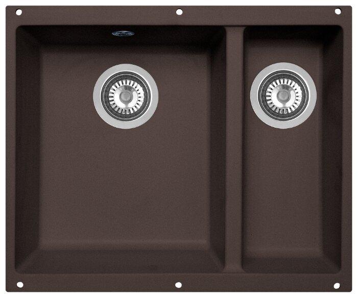 Интегрированная кухонная мойка Zigmund & Shtain INTEGRA 500.2 55.5х46см искусственный гранит