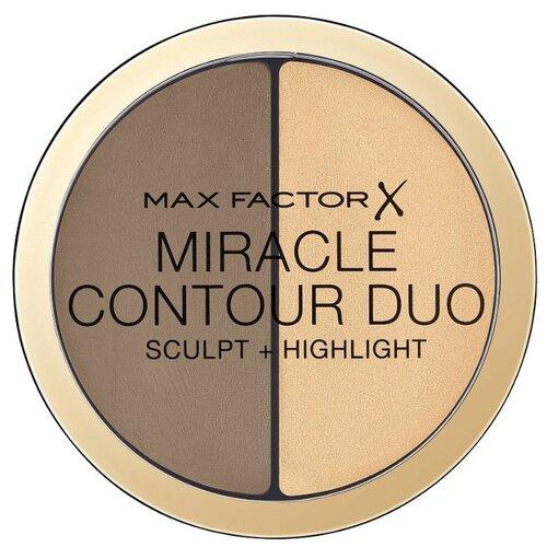 Max Factor Палетка для контуринга Miracle Contour Duo Sculpt and Highlight light medium