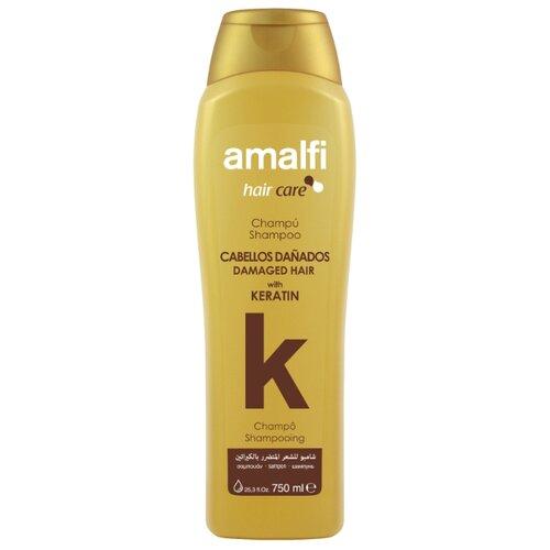 Amalfi шампунь Hair care Keratin для поврежденных волос, 750 мл