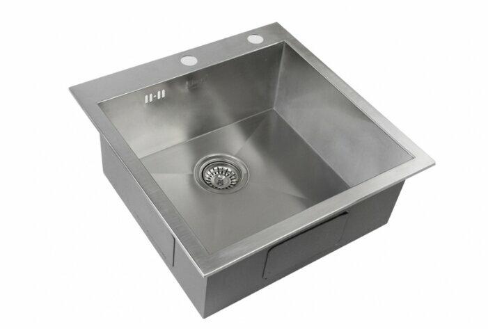 Врезная кухонная мойка ZorG INOX X-5151 51х51см нержавеющая сталь