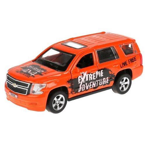 Купить Внедорожник ТЕХНОПАРК Chevrolet Tahoe Спорт (TAHOE-S) 12 см оранжевый, Машинки и техника