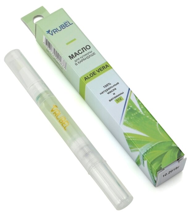 Купить Масло Vrubel Style натуральное для кутикулы Алоэ Вера в карандаше, 2 мл по низкой цене с доставкой из Яндекс.Маркета