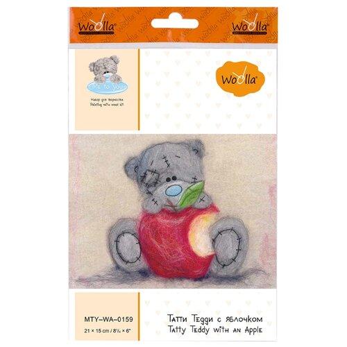 Купить Woolla Набор для валяния Татти Тедди с яблочком (MTY-WA-0159), Валяние