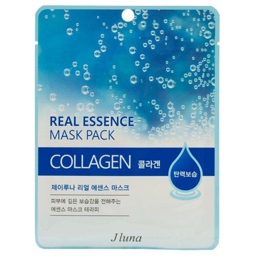 Фото - Juno тканевая маска Real Essence Mask Pack с коллагеном, 25 мл маска тканевая juno j luna q10 для лица 3 шт 25 мл