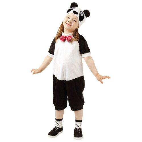 Купить Костюм пуговка Панда (912 к-17), черный/белый, размер 104, Карнавальные костюмы