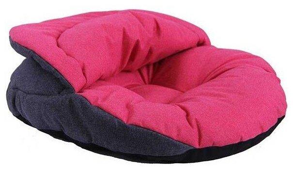 Лежак для собак Pretty Pet Нора 48х45х10 см серый/розовый