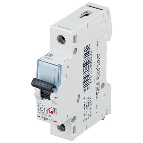 Автоматический выключатель Legrand TX3 1P (C) 6kA 16 А