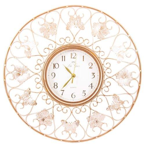 Часы настенные кварцевые La Geer 60804 золотистый