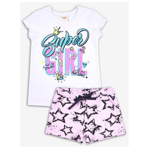 Комплект одежды Веселый Малыш размер 116, белый/розовый
