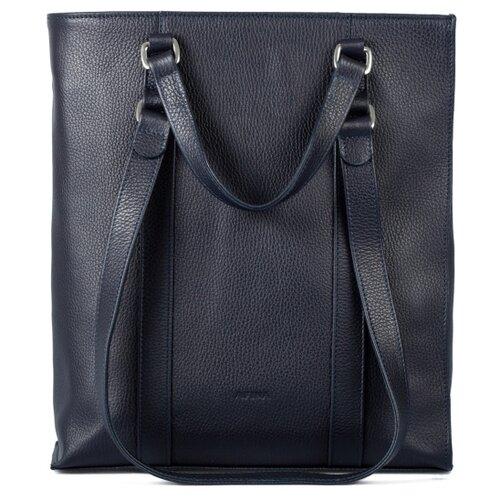 Сумка тоут Afina, натуральная кожа, синий сумка afina afina af004bwssy21