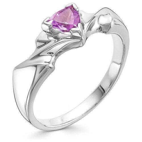 АЛЬКОР Кольцо с 1 аметистом из серебра 01-0586-00АМ-00, размер 17 алькор кольцо с 1 аметистом из серебра 01 0578 00ам 00 размер 17 5
