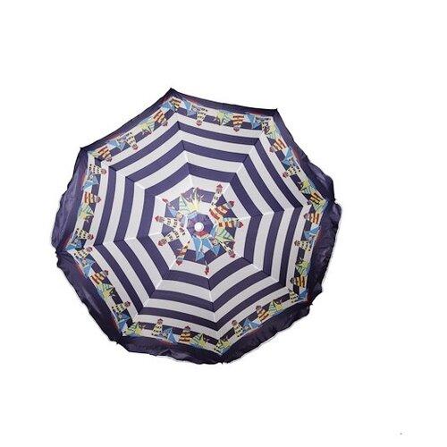 Пляжный зонт Design 8 (Т45848) купол 160 см, высота 180 см фиолетовый/белый/желтый