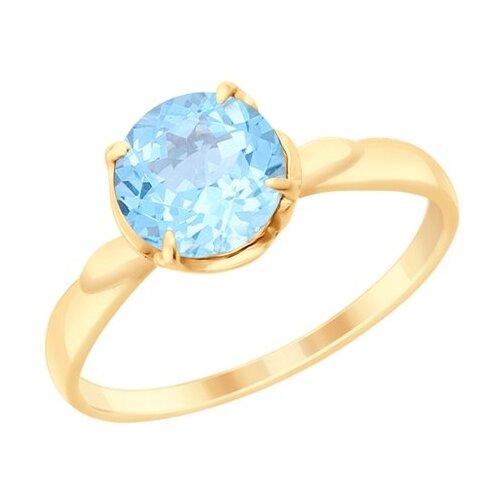 Diamant Кольцо из золота с топазом 51-310-00182-1, размер 17 diamant кольцо из золота с гранатом 51 310 00182 2 размер 17