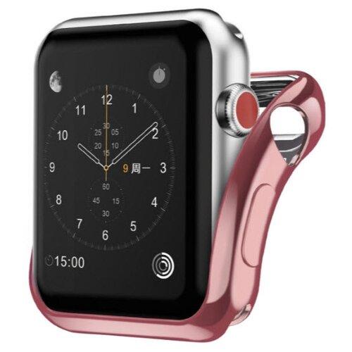 Чехол INTERSTEP Спортивный, силикон для Apple Watch 40mm розовыйАксессуары для умных часов и браслетов<br>
