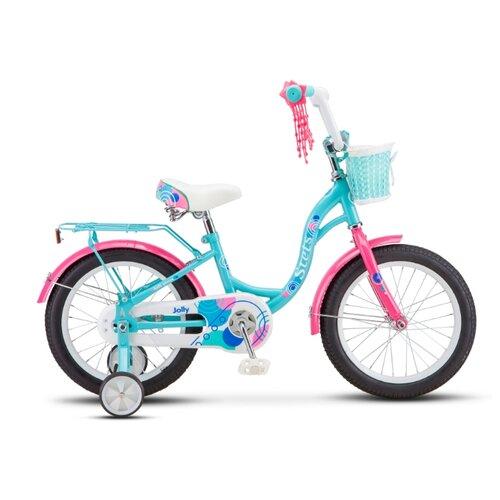 Фото - Детский велосипед STELS Jolly 16 V010 (2020) мятный 9.5 (требует финальной сборки) горный mtb велосипед stels miss 5000 md 26 v010 2019 бирюзовый 17 требует финальной сборки