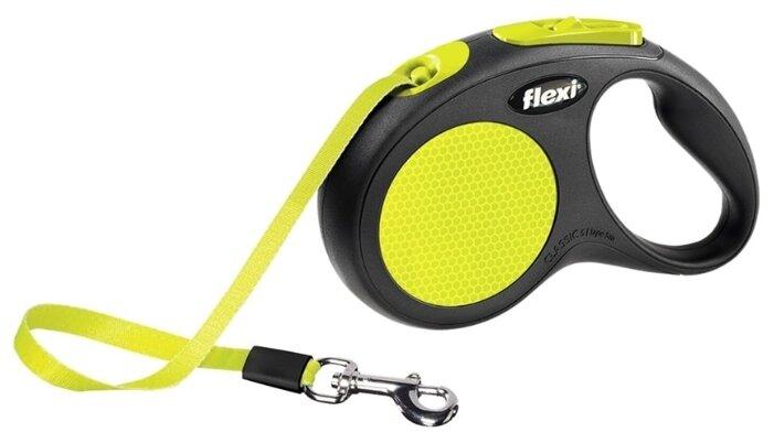 Сколько стоит Поводок-рулетка для собак Flexi New Neon S ленточный? Выгодные цены на Яндекс.Маркете