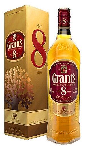 Виски Grant's 8 лет, 0.7 л, подарочная упаковка