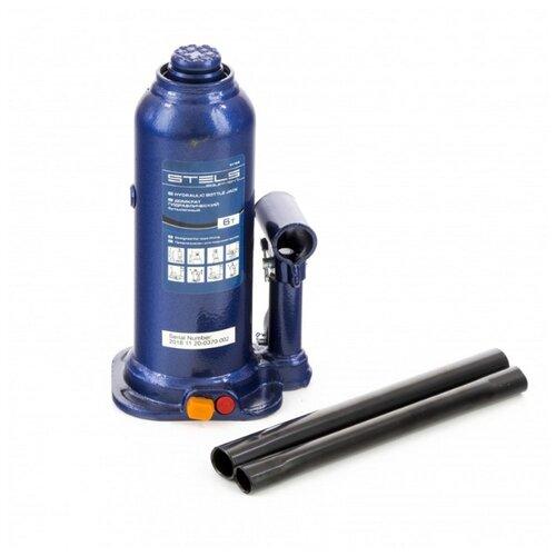 Домкрат бутылочный гидравлический Stels 51164 (6 т) синий