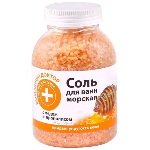 Домашний доктор Соль для ванн с медом и прополисом , 1 кг
