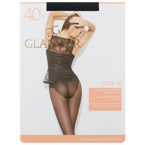 Колготки Glamour Style 40 den, размер 3-M, nero (черный) колготки glamour thin body 2 40 den лёгкий загар