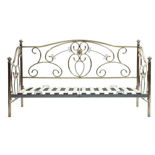 Кровать TetChair JANE односпальная, размер (ДхШ): 208х94 см, спальное место (ДхШ): 200х90 см, каркас: массив дерева, цвет: античная медь