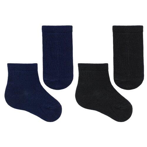 Носки НАШЕ комплект 2 пары размер 22-24, черный/темно-синий  - купить со скидкой