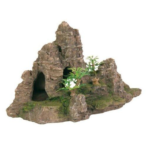 Грот TRIXIE Скалы с пещерой с растениями (8853) высота 22 см зеленый/коричневый