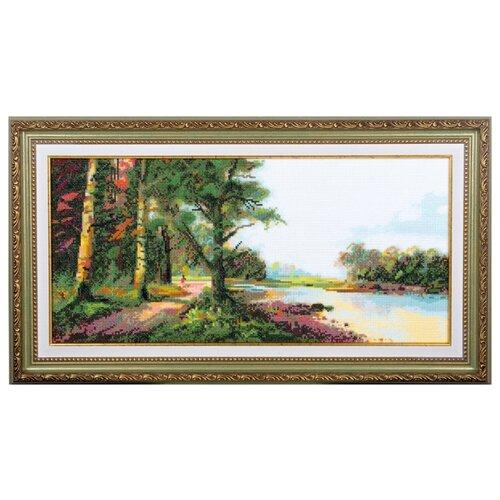 Фото - Ажур Набор для вышивания крестиком Пейзаж 45 х 21 см (0018) ажур набор для вышивания крестиком цветущий кактус 26 х 17 см 0010