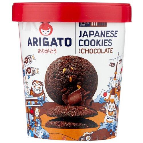 Фото - Печенье Arigato Japanese Cookies сдобное шоколадное, 120 г печенье bergen original cookies