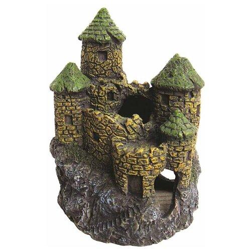 Грот BARBUS Замок Decor 002 11x14.5x9.5 см серый/зеленый