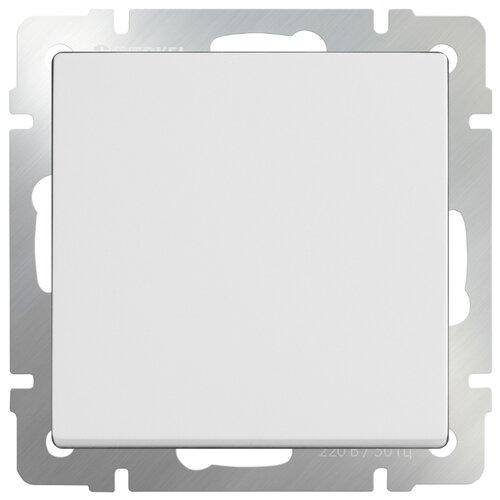 Выключатель 1-полюсный Werkel WL01-SW-1G-2W,10А, белый выключатель 1 полюсный werkel wl06 sw 1g 2w led 10а серебристый