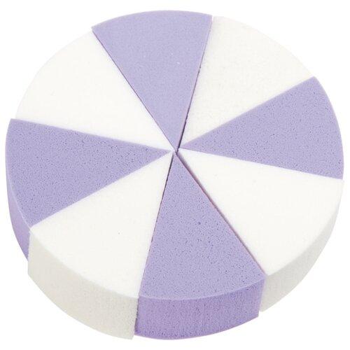 Набор спонжей Dewal Beauty SP-04, 8 шт. белый/фиолетовый недорого