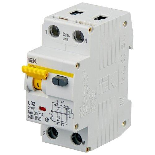 цена на Дифференциальный автомат IEK АВДТ 32 2П 30 мА C 32 А